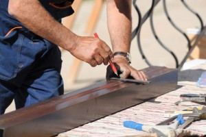 Element Roofing gutter install on Commercial Roofing in Pleasanton, CA.
