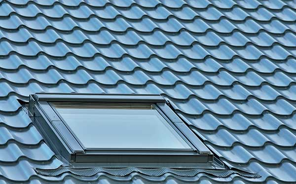 Shingles and a skylight on a home in Pleasant Hill, CA