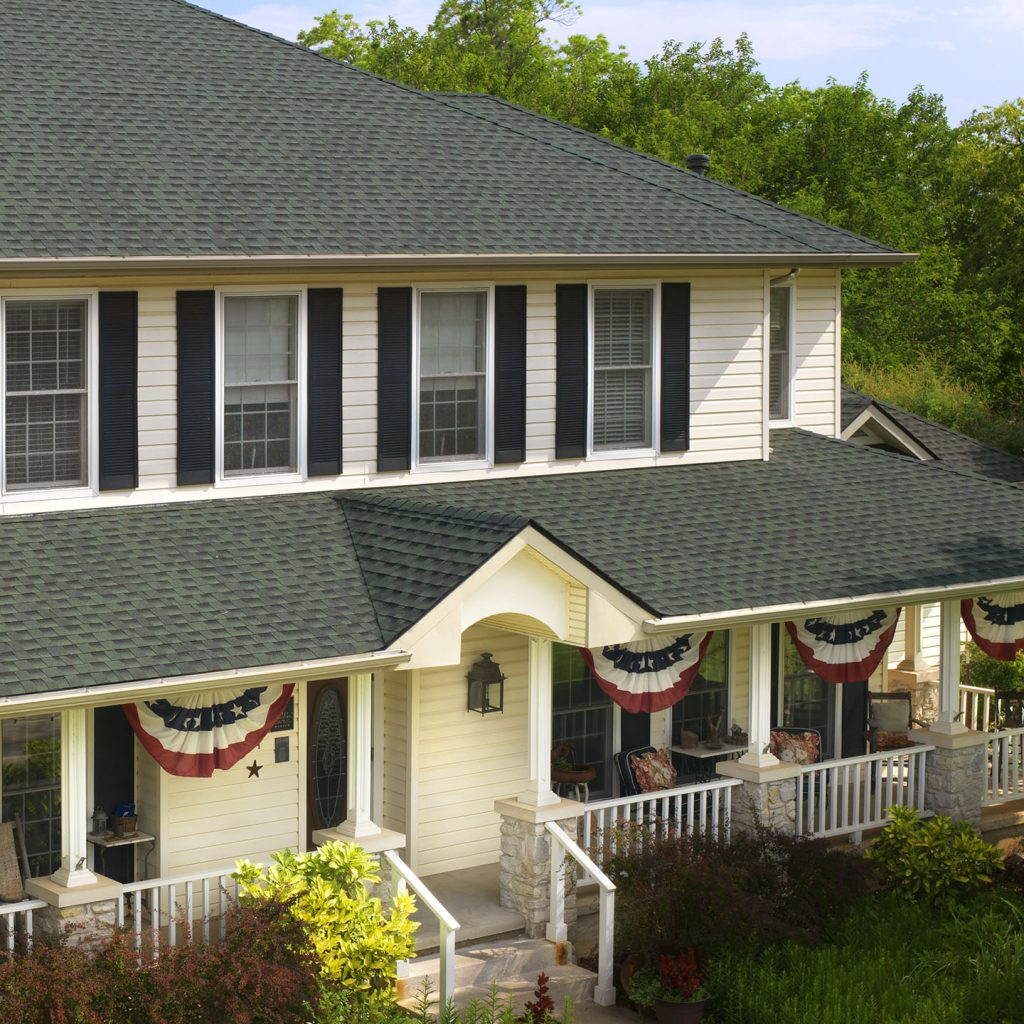 image of a house with a new roof installation in alamo, ca