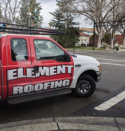 truck of element roofing in alamo