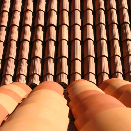 image of roofing tiles made of clay
